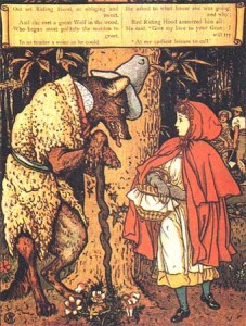 Walter Crane (1875) illustration for the story